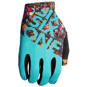 SixSixOne Raji fietshandschoenen Heren turquoise/bont